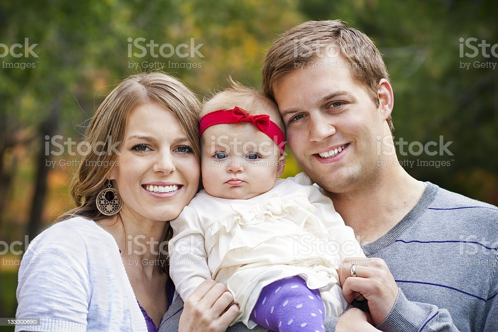 Beautiful Young Family Portrait stock photo