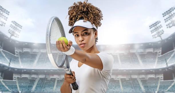 Schöne junge Sportlerin posiert in Studio-Aufnahme – Foto