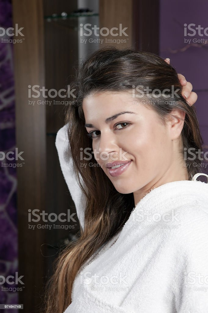 Beautiful Young Female in the Spa royalty-free stock photo