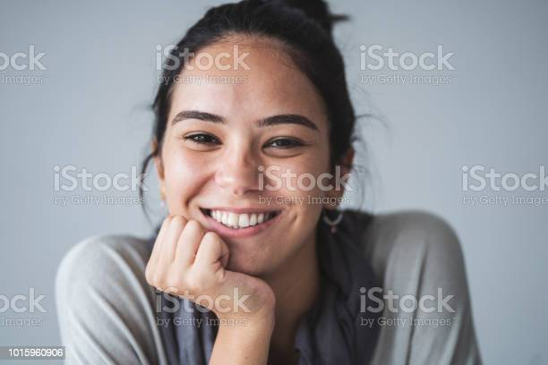 Beautiful Young Girl Looking At Camera Portrait Stock Photo - Download Image Now