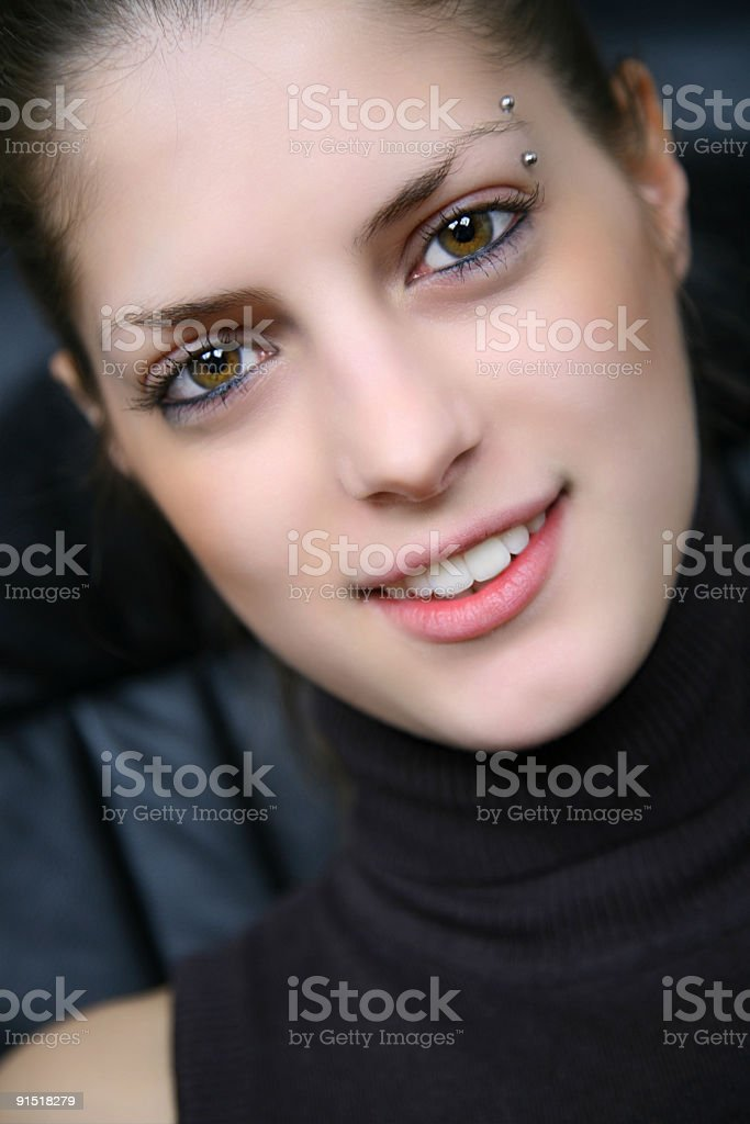 Beautiful young girl portrait royalty-free stock photo