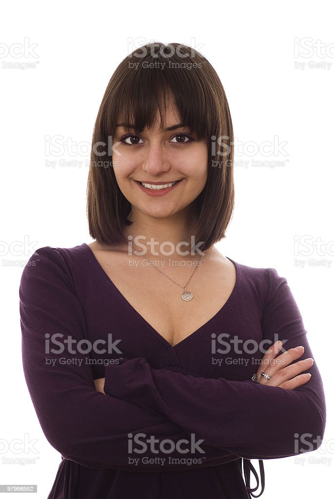 beautiful young girl standing royalty-free stock photo