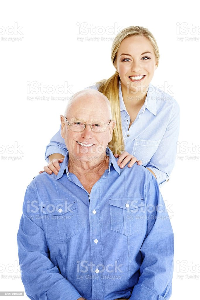 Beautiful young girl with her father royalty-free stock photo