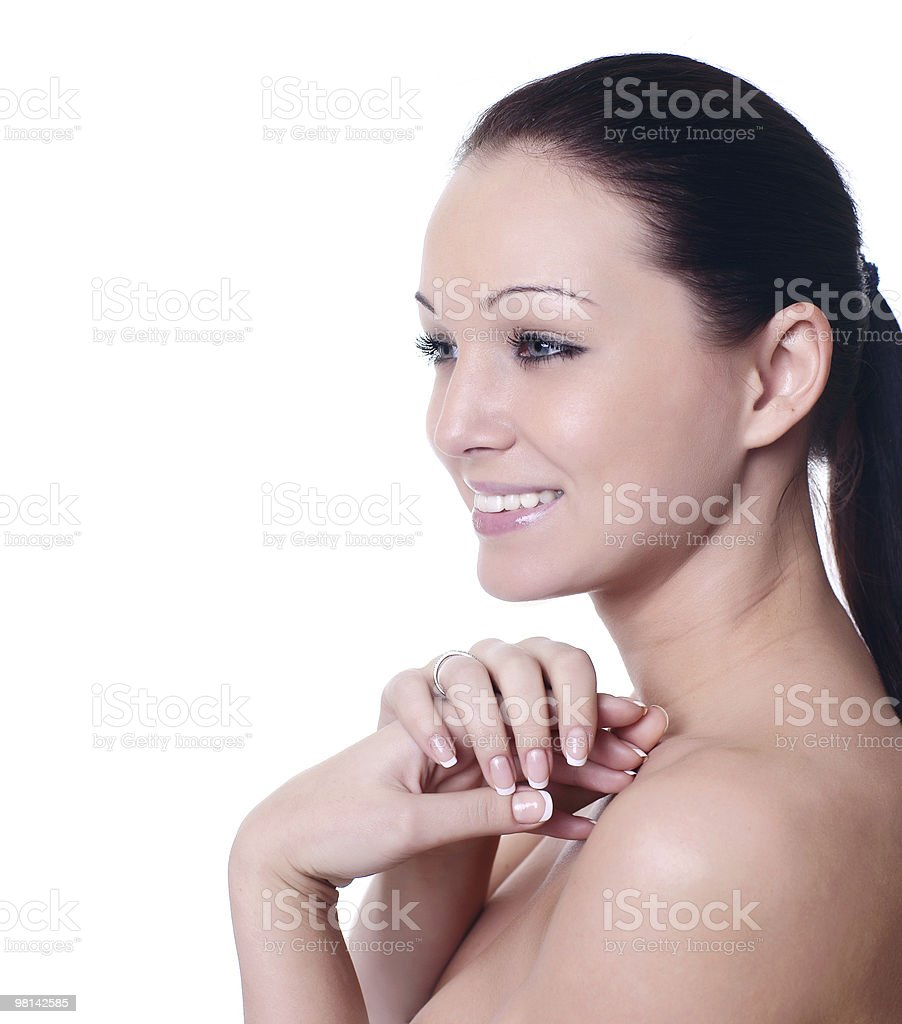 beautiful young girl with perfect skin royalty-free stock photo