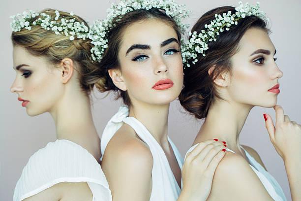 美しい若い少女 - ウェディングファッション ストックフォトと画像