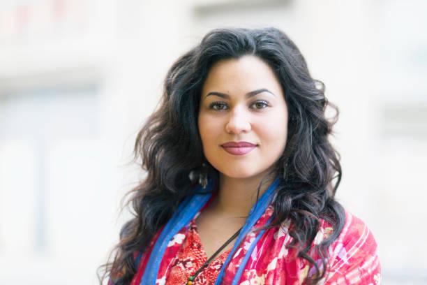 beautiful young hispanic woman portrait - latina woman stock photos and pictures