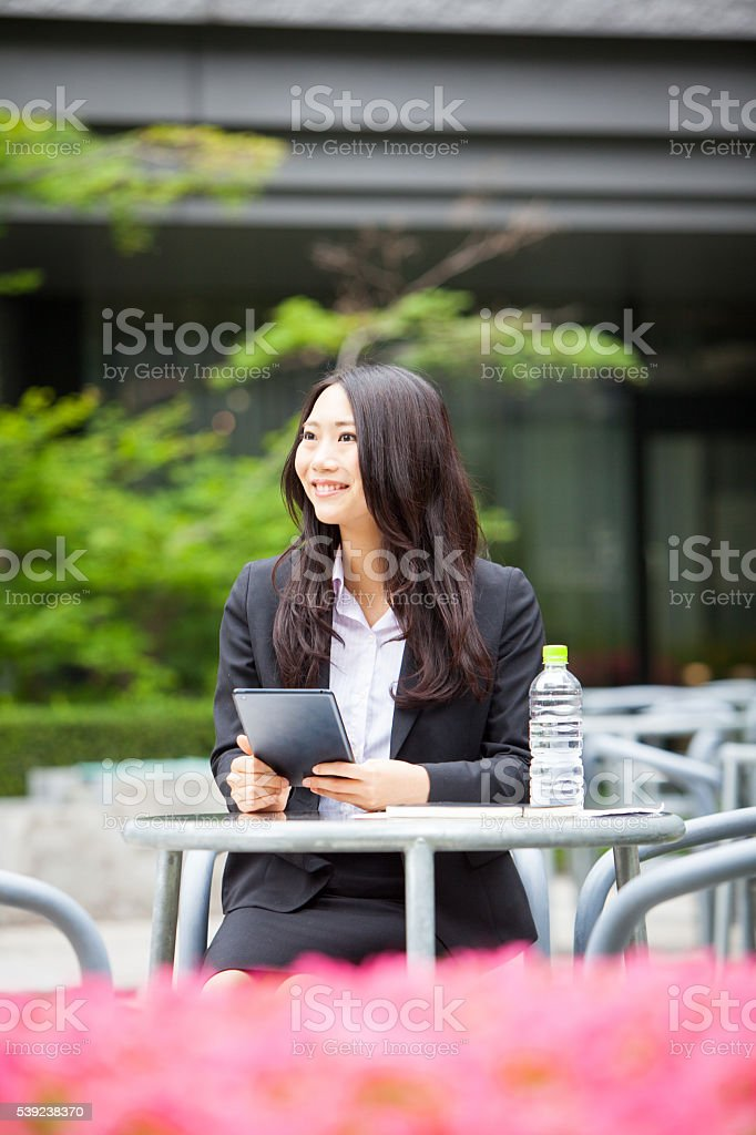 Beautiful young japanese business woman royalty-free stock photo