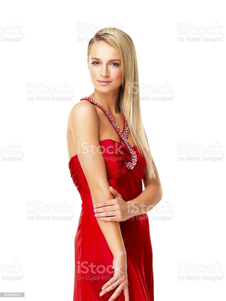 a4ef7057fa Bellissima Giovane Donna In Abito Elegante - Fotografie stock e ...