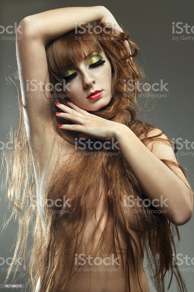 Beautiful young lady posing royalty-free stock photo