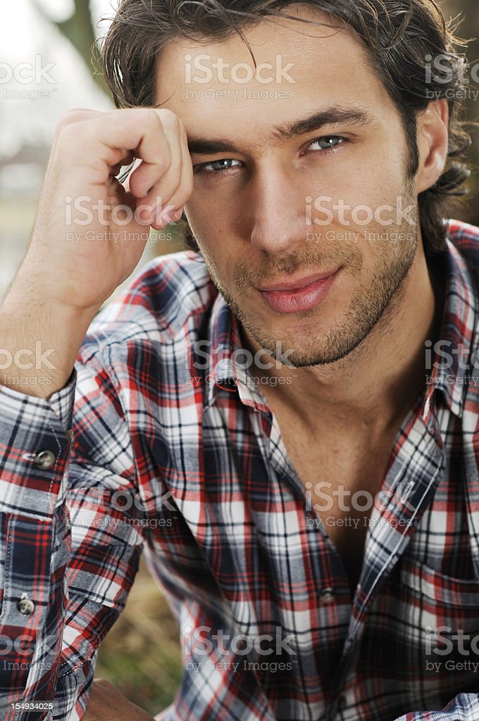 beautiful young man royalty-free stock photo