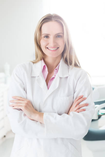 beautiful & young medical expert - dermatology stock photos and pictures