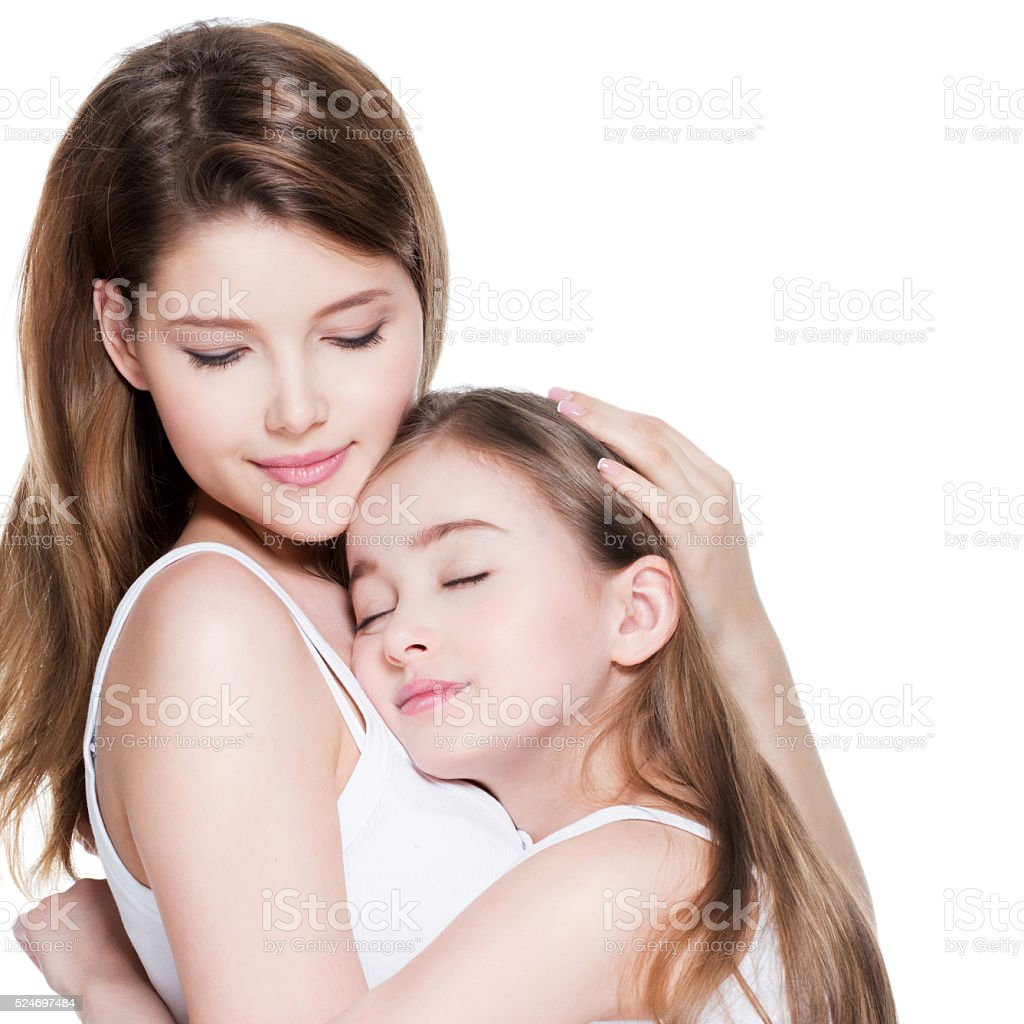 mother and girl nude