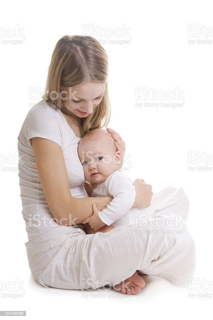 Beautiful young mother with her little baby royalty-free stock photo
