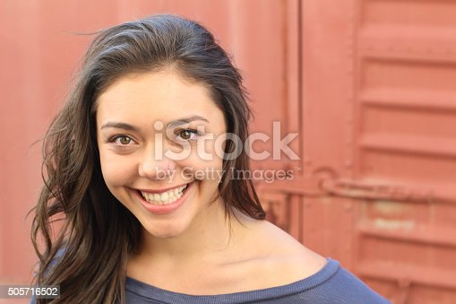 istock Beautiful young multicultural woman outdoor portrait. 505716502