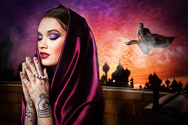 beautiful young oriental woman stock photo