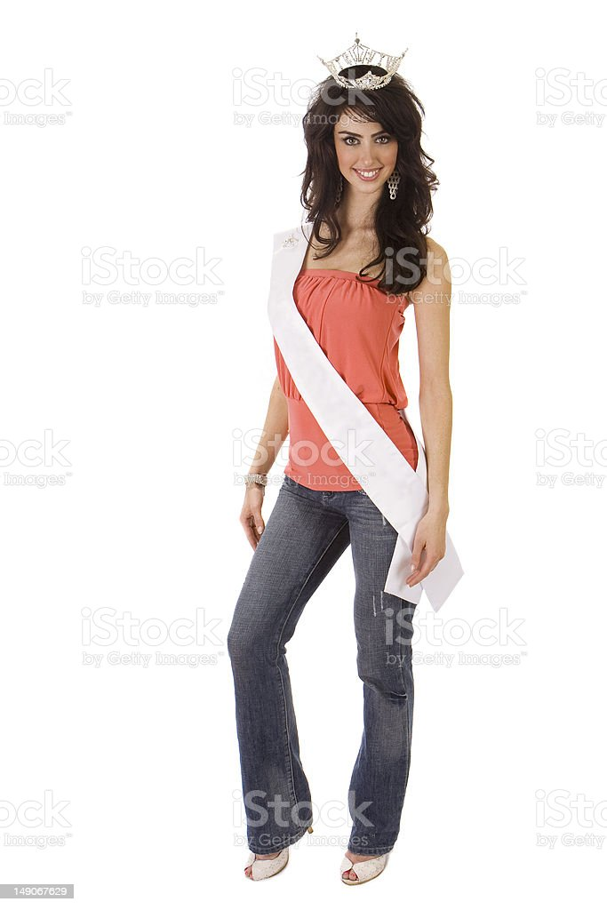 Beautiful Young Pageant Winner stock photo
