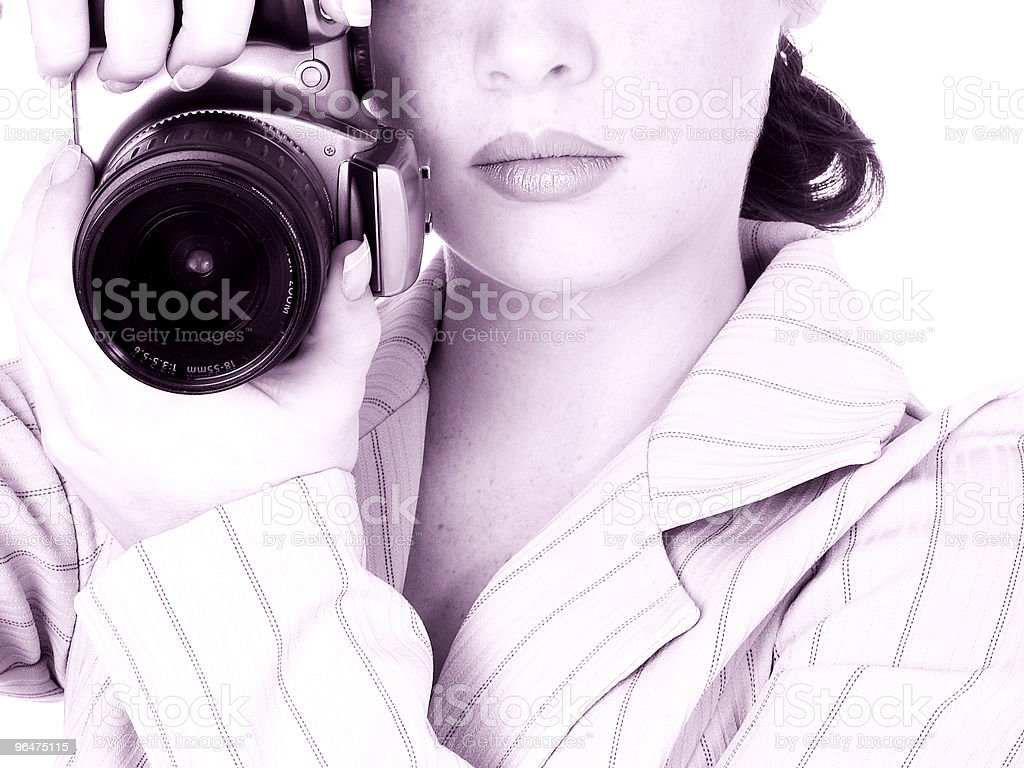 Beautiful Young Photographer royalty-free stock photo