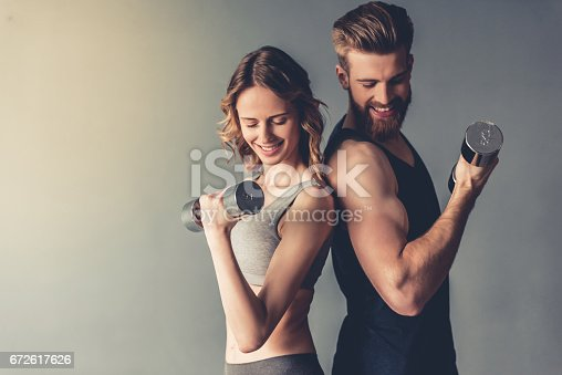 istock Beautiful young sports couple 672617626