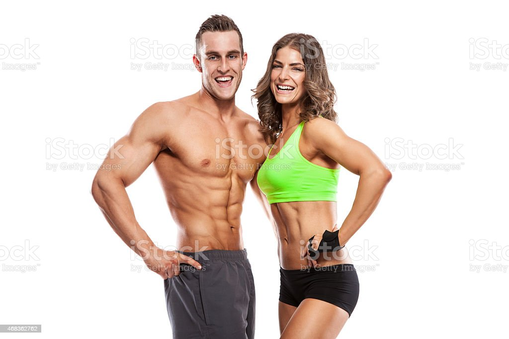 beautiful young sporty sexy couple royalty-free stock photo