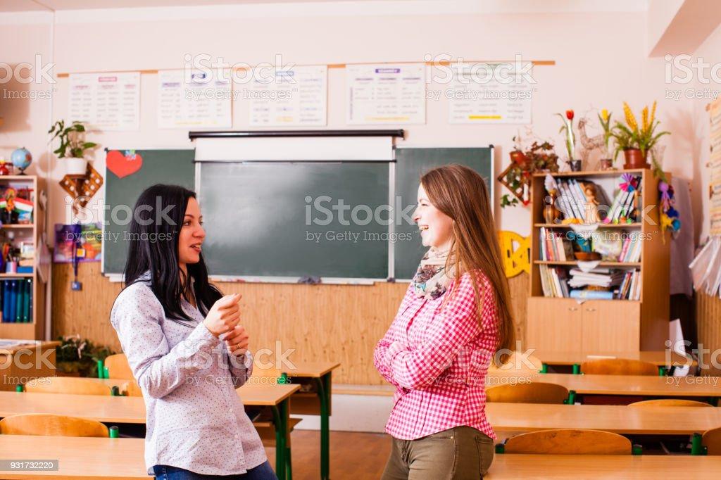 Schöne junge Lehrer – Foto