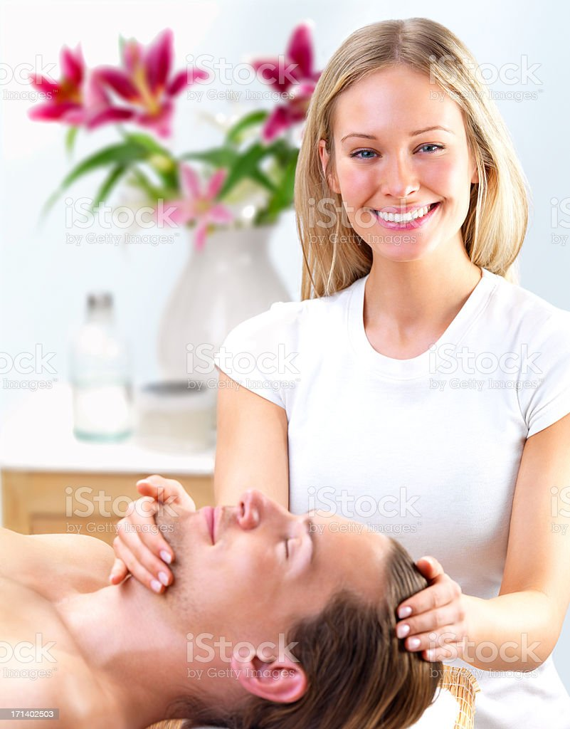 Beautiful young therapist working royalty-free stock photo