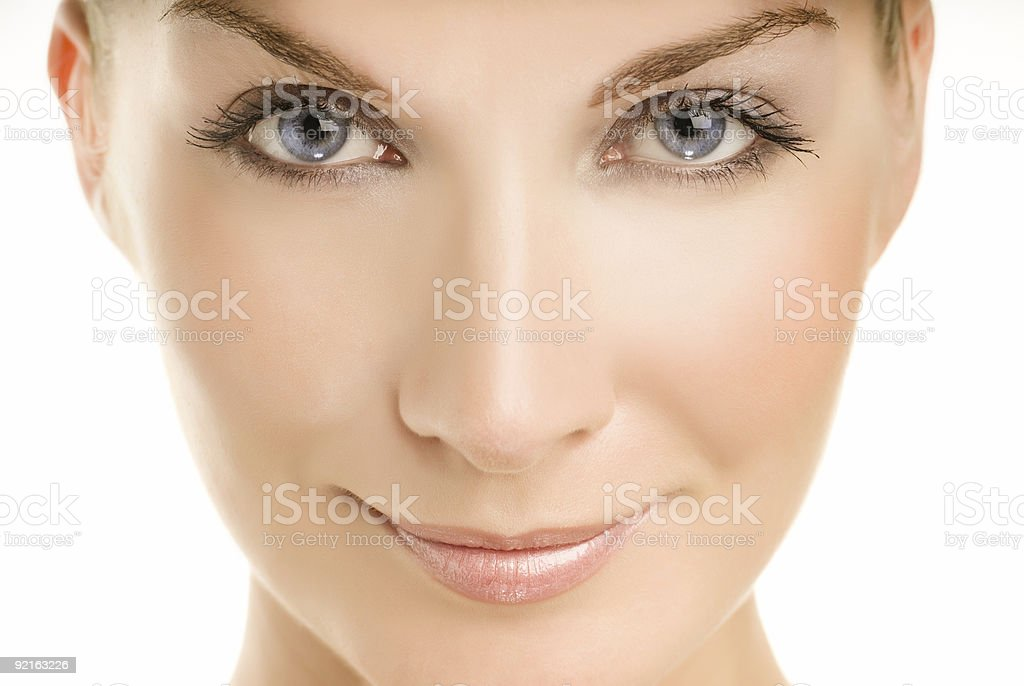 Beautiful young woman close-up portrait royalty-free stock photo