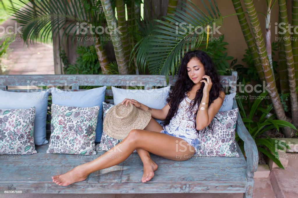 Royalty Free Beautiful Woman Legs With Jeans And Barefoot Pictures ...