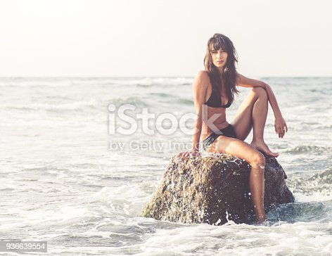 670374358 istock photo Beautiful young woman enjoying the beach 936639554