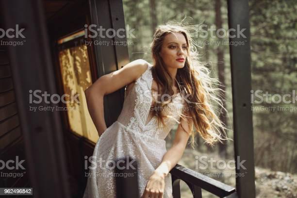 Foto de Mulher Jovem E Bonita Aproveitando A Viagem De Trem e mais fotos de stock de 20 Anos