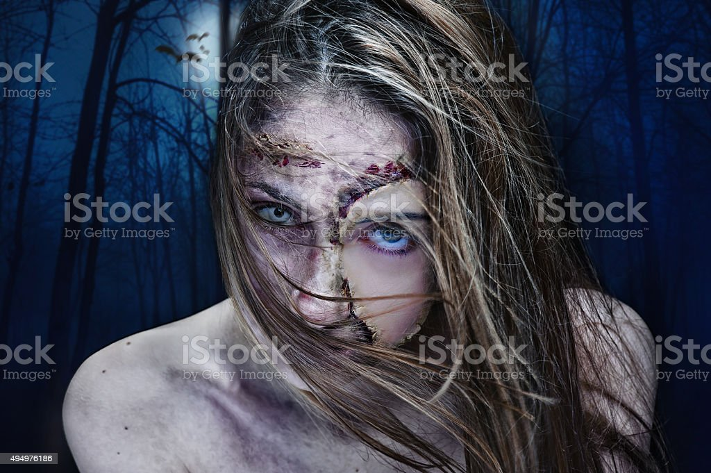 Hermosa joven mujer. Halloween. - foto de stock