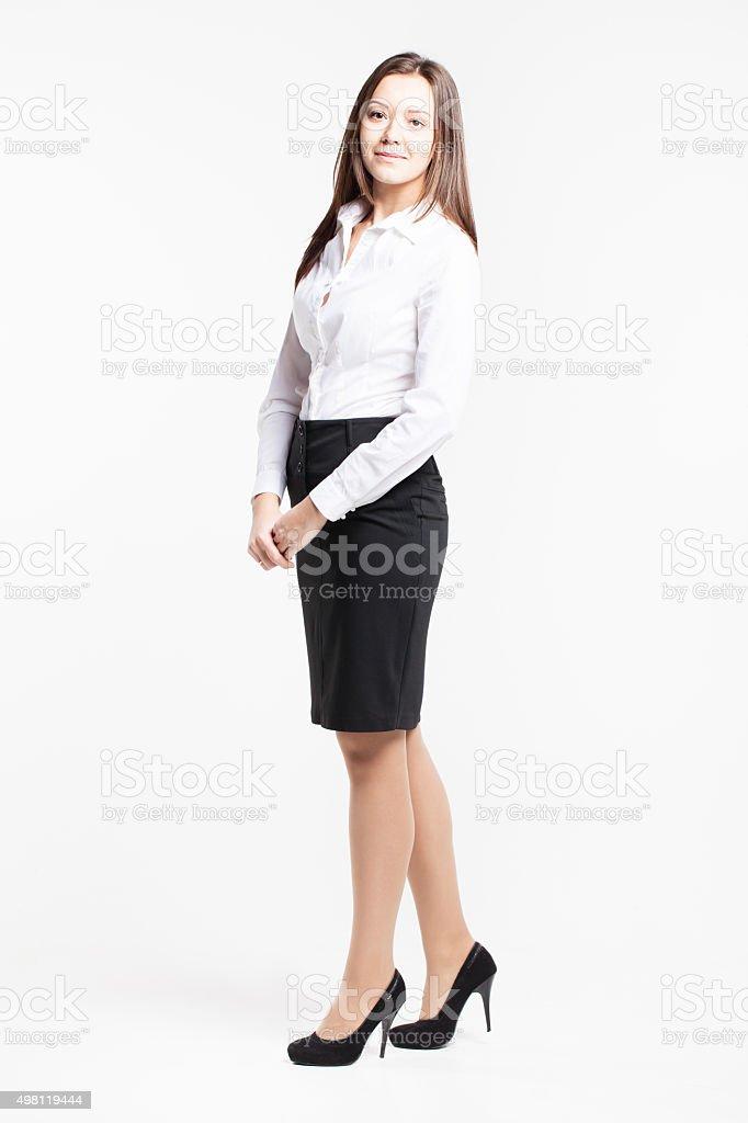 De Dans Une Chemise Blanche Photo Libre Droit Belle Femme Jeune n0wOk8P