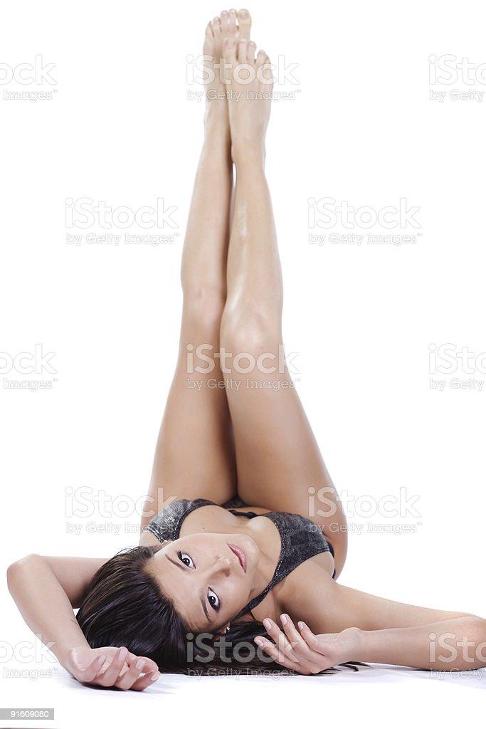 Beautiful young woman in swimwear royalty-free stock photo