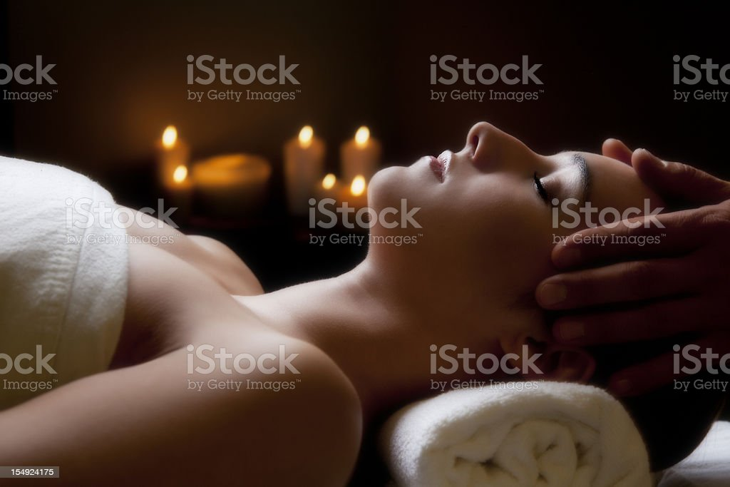 Beautiful young woman in the spa royalty-free stock photo