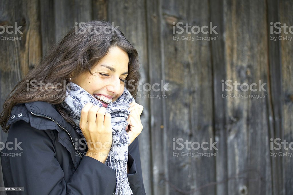 beautiful young woman laughing royalty-free stock photo