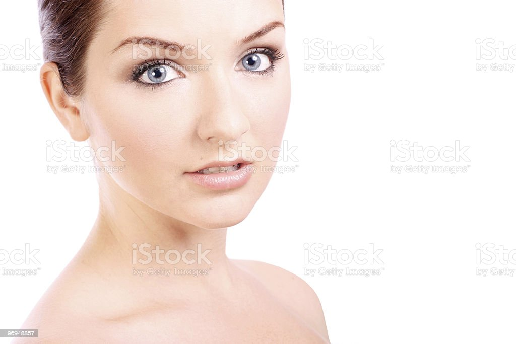 Beautiful young woman looking at camera royalty-free stock photo
