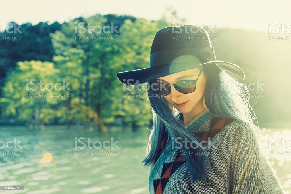 Beautiful young woman outdoor royalty-free stock photo