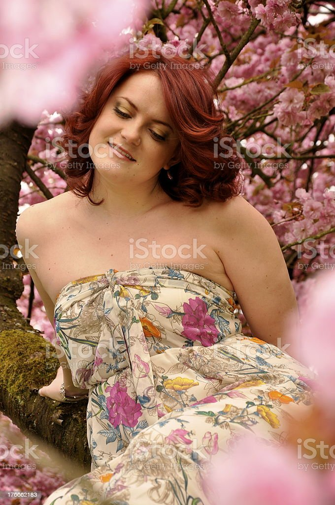 Beautiful young woman outdoors royalty-free stock photo