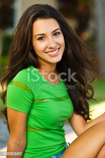 istock Beautiful young woman 1202623427