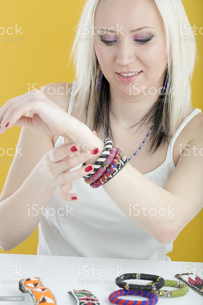 Hermosa mujer joven foto de stock libre de derechos
