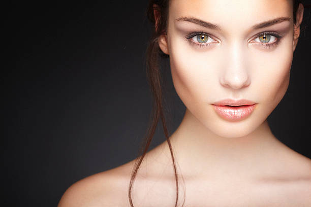 beautiful young woman - beauty treatment stock photos and pictures