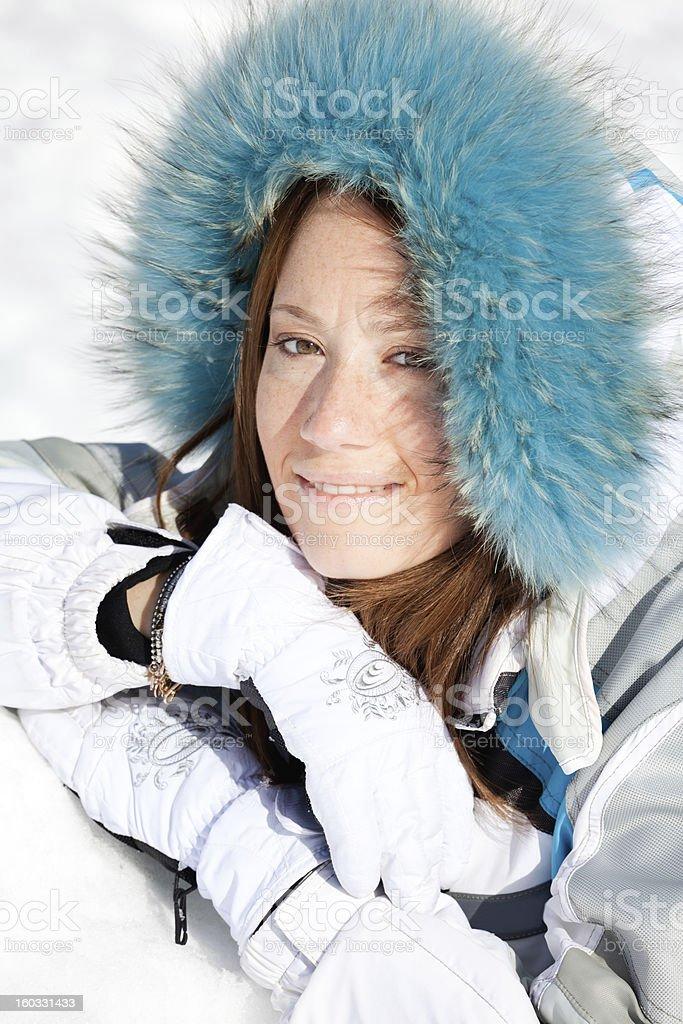 Beautiful young woman portrait at mountain - XXXL royalty-free stock photo