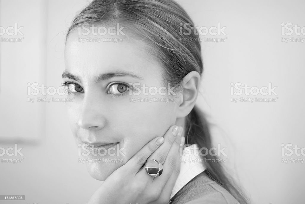 Beautiful Young Woman Portrait royalty-free stock photo