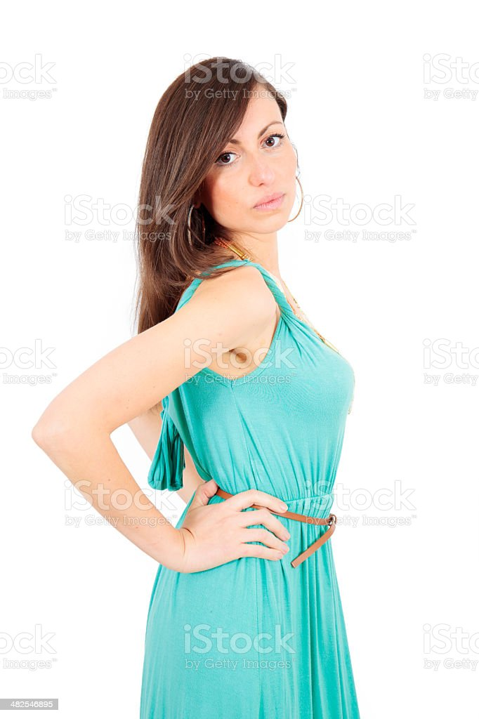 Beautiful young woman posing royalty-free stock photo
