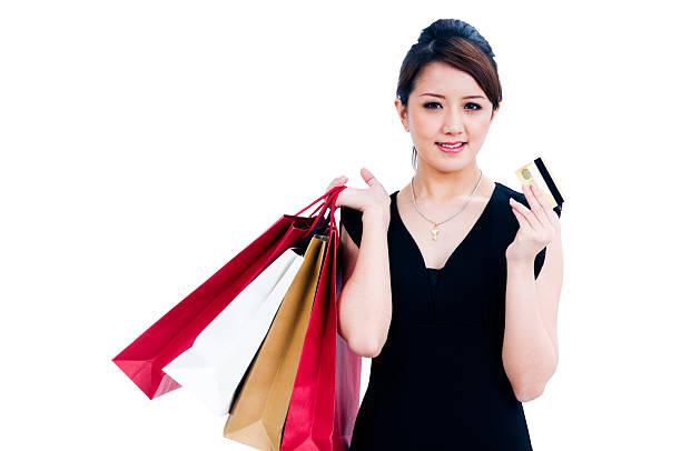 Schöne Junge Frau shopping – Foto