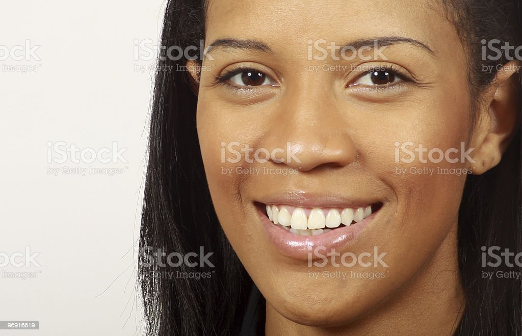 Beautiful Young  Woman Smiling Close Up royalty-free stock photo
