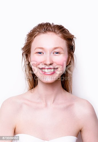 istock Beautiful young woman smiling looks very happy and excited 873339552