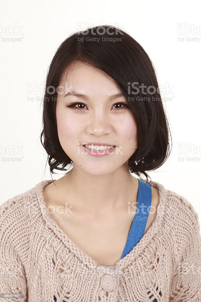 Beautiful young woman smiling royalty-free stock photo