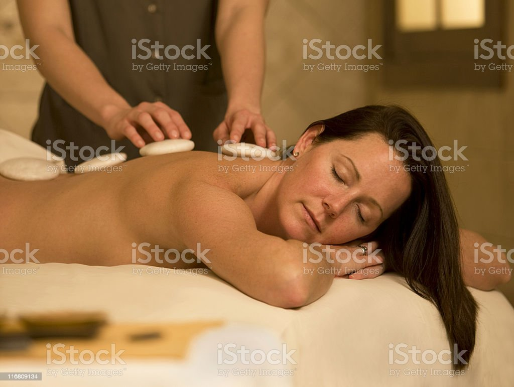 Beautiful Young Woman Visiting A Spa royalty-free stock photo