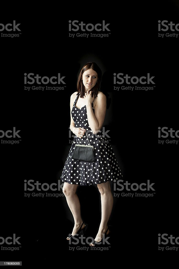 Beautiful Young Woman with Brown Hair and Eyes royalty-free stock photo