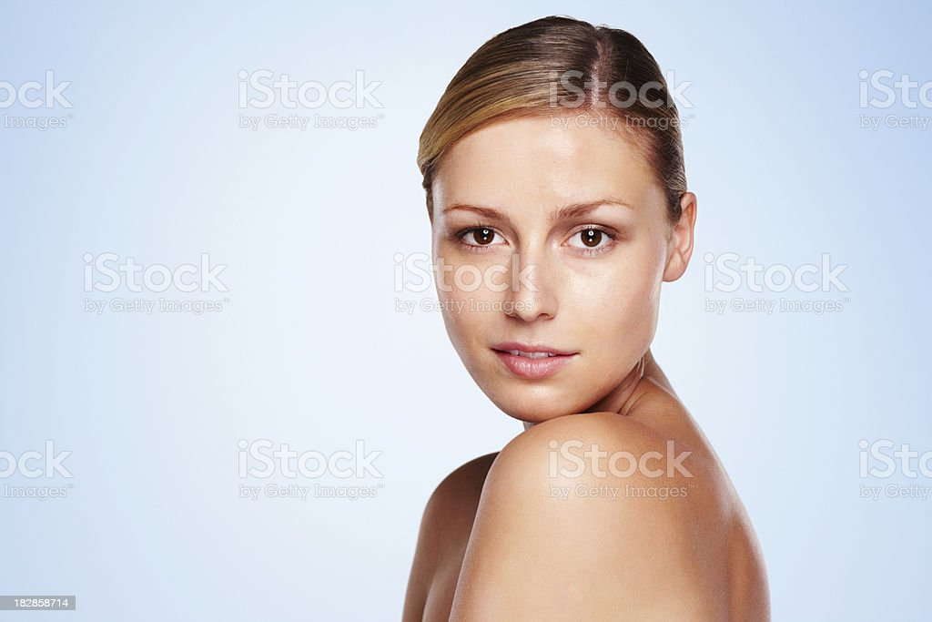 Beautiful young woman with copy space royalty-free stock photo